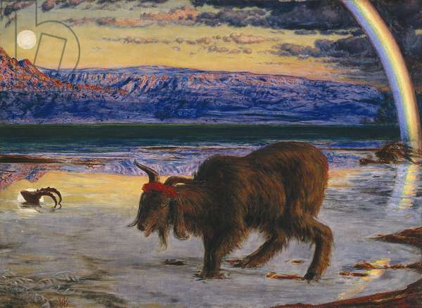 The Scapegoat, 1854-55 (oil on canvas)