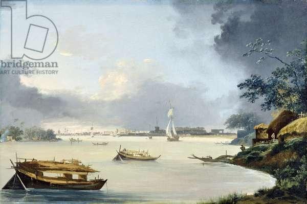 View of Calcutta, c.1790 (oil on canvas)