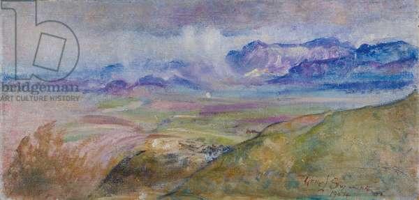 Rain-clouds, Monte Gennaro, 1904 (oil on canvas)