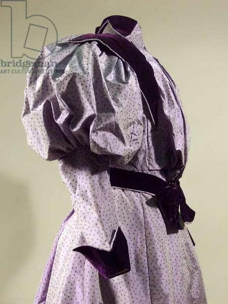 Dress, 1895-96 (silk & velvet)