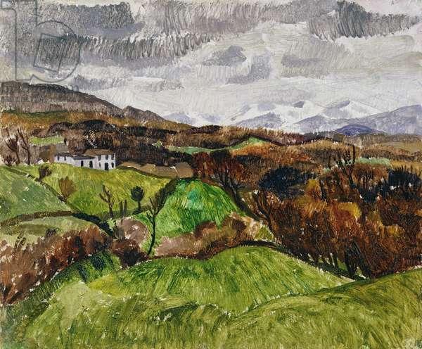 Cumberland Landscape, 1928 (oil on plywood)