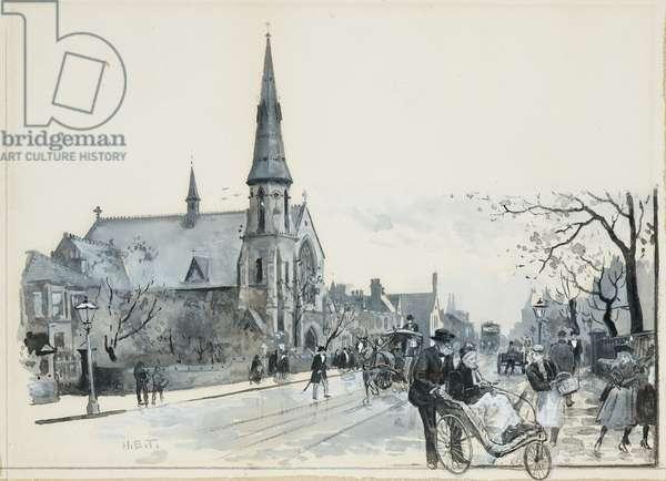 Longsight Wesleyan Chapel, 1893-94 (w/c gouache on paper)