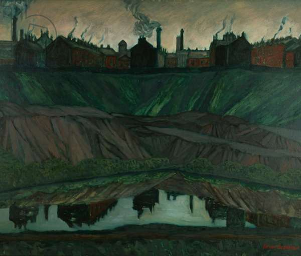 Reflections (Rose Hill, Bolton) 1954 (oil on board)
