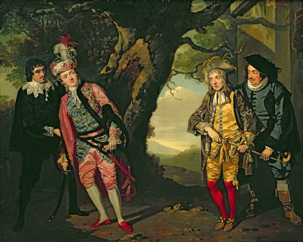 The Duel, from Act 3, scene 4 of 'Twelfth Night', 1771-72 (oil on canvas)