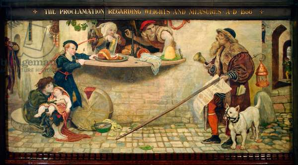 The Proclamation Regarding Weights and Measures AD 1556, 1884 (pigment, varnish, gum & wax on panel)