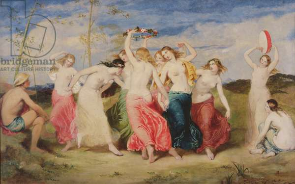 Mercury Instructing the Nymphs in Dance, 1848 (oil on panel)