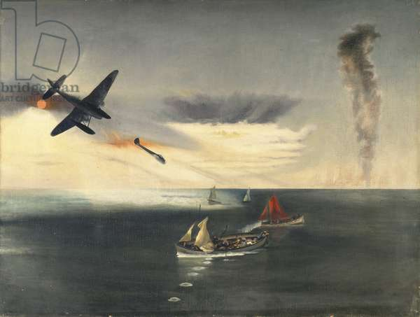 The Boats were Machine-Gunned, 1941 (oil on canvas)