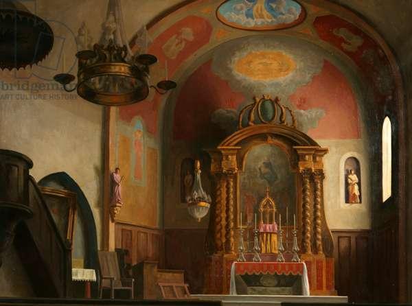 The Church at Ramatuelle, 1922 (oil on canvas)