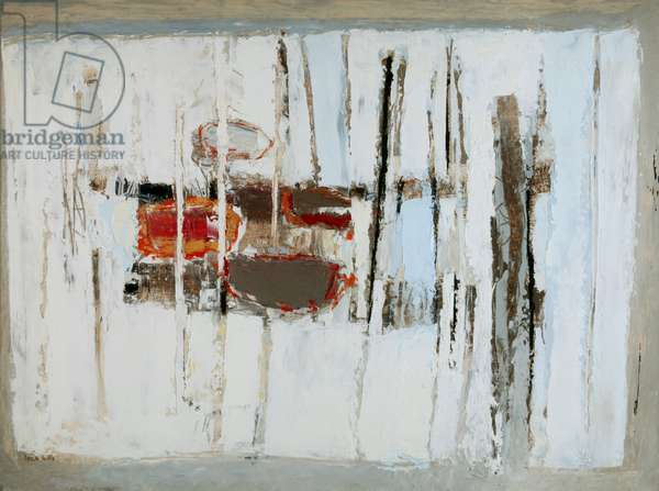 Gwavas Verticals, 1956 (oil on hardboard)