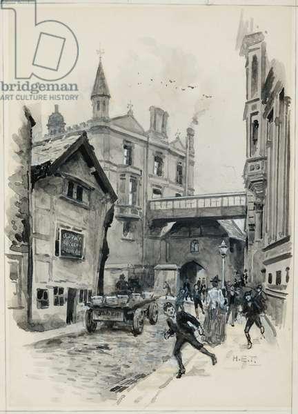 The Grammar School College Gateway, 1893-94 (w/c gouache on paper)