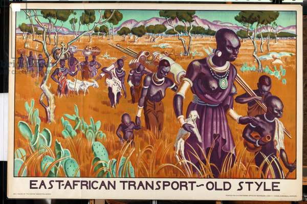 East African transport - old style, c.1926-39 (colour litho)
