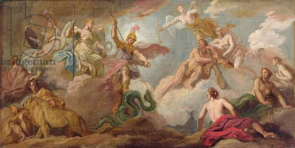 The Victory of Apollo, c.1716 (oil on canvas)