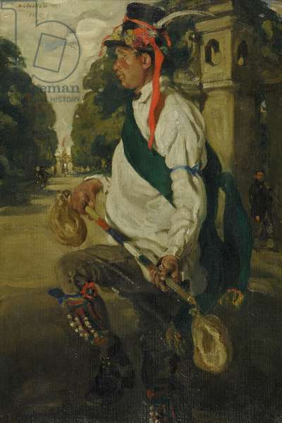 Edward Russell Dancing the Morris, 1901 (oil on canvas)