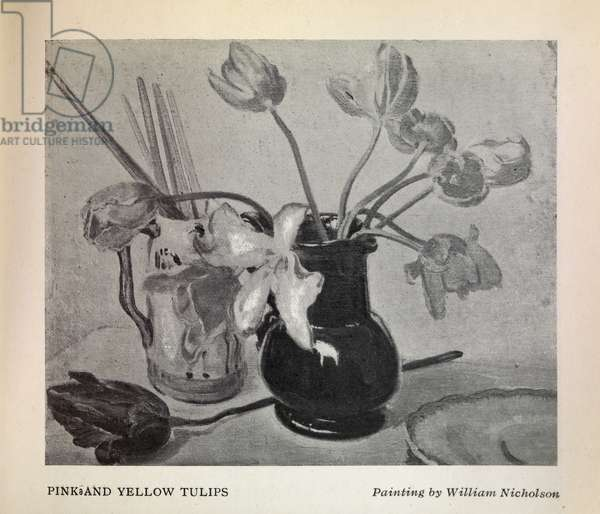 Pink and Yellow Tulips, 1929 (oil on canvas)