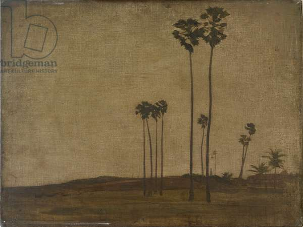 Bombay Outskirts, 1915 (oil on canvas board)