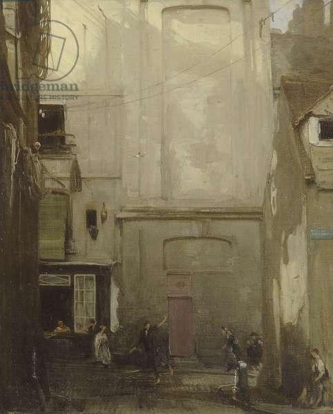 La Place du petit enfer, Dieppe, 1908 (oil on canvas)
