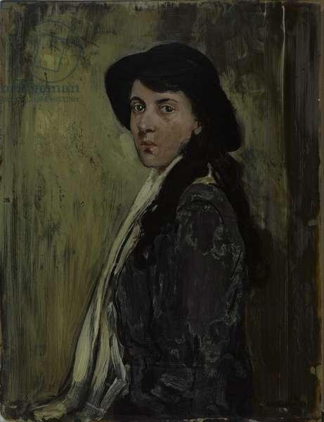 Marjorie Fox-Symons, 1916 (oil on glass)