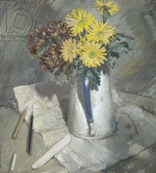 Chrysanthemums, 1933 (oil on panel)