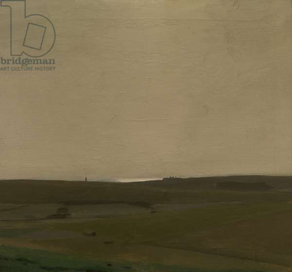 South Downs at Roedean, 1909 (oil on canvas)