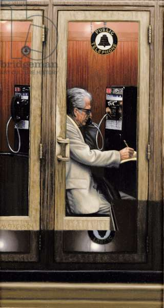 My Father in the Phone Booth, 1986 (oil on panel)
