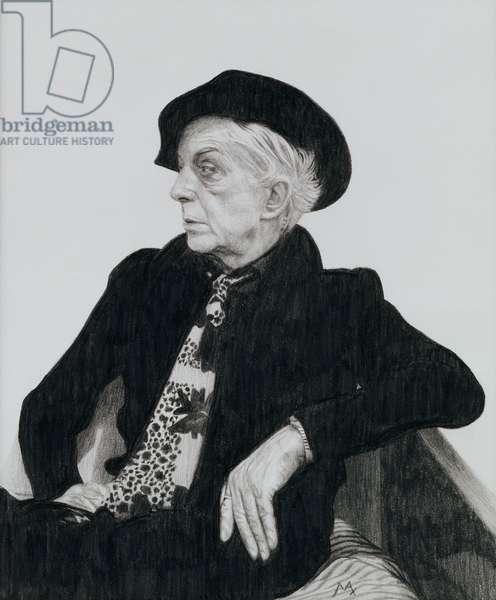 Quentin Crisp (1908-99), 2000 (graphite on paper)
