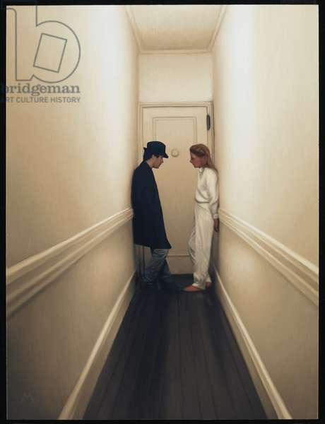 Couple in Hallway, 2009 (oil on panel)