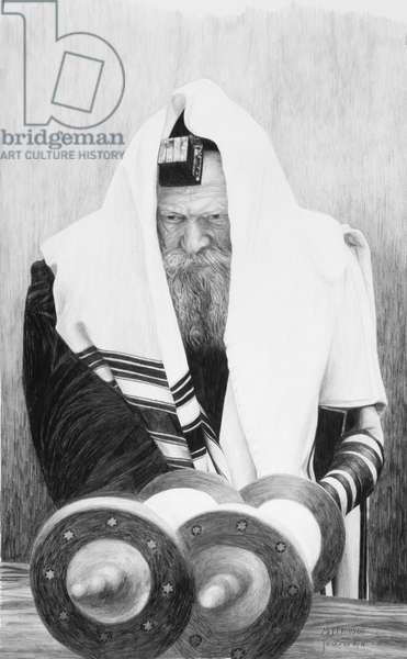The Rebbe, 2003 (pencil on paper)
