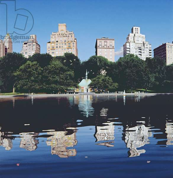 Boat Pond, 1994 (oil on panel)