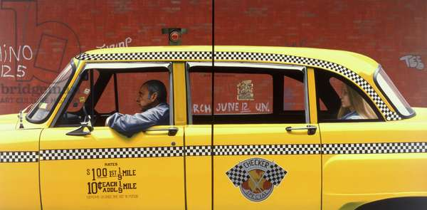 Checker Cab, 1983 (oil on panel)
