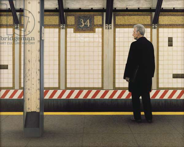 My Father in the Subway III, 1984 (oil on panel)