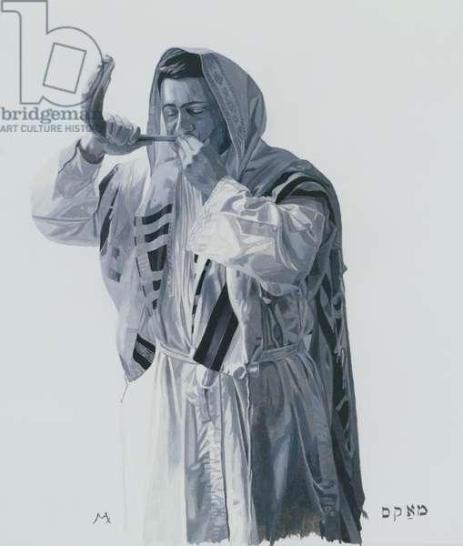 Shofar, 2000 (w/c on paper)