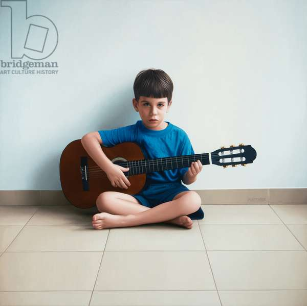 Boy with Guitar, 2013 (oil on canvas)