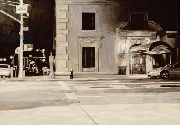 Nocturnal Street Scene, 2003 (egg tempera on vellum)