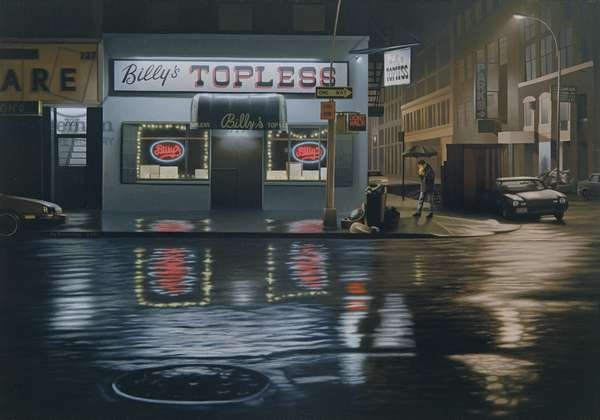 Billy's Topless, 1991 (oil on panel)