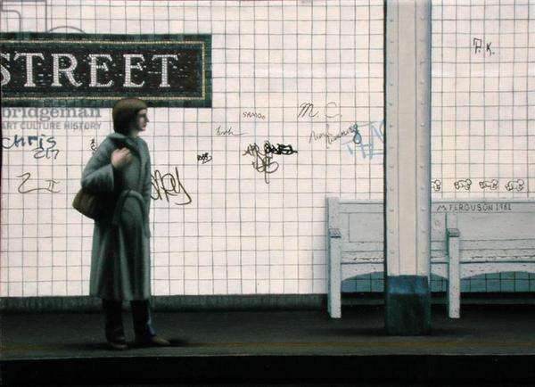 Woman in the Subway, 1981 (oil on panel)