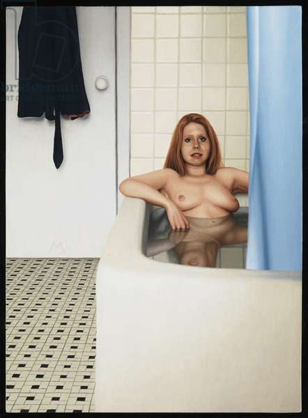 Woman in Bath, 2009 (oil on panel)