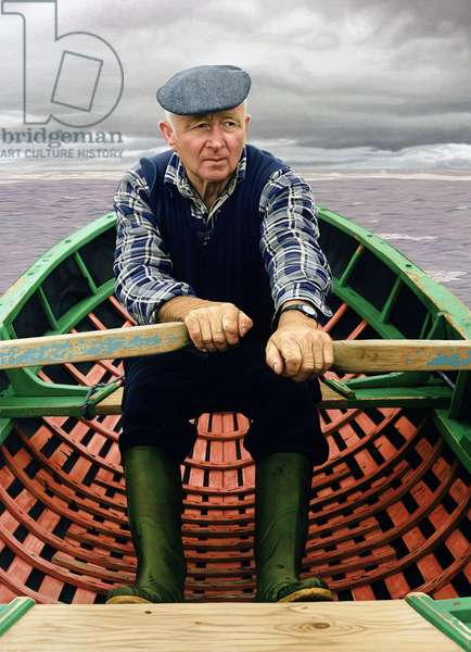 Man in Boat, 2001 (oil on panel)