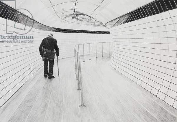 Underground Man, 2020 (graphite on paper)