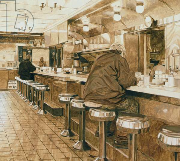 Diner, 2008 (acrylic on board)
