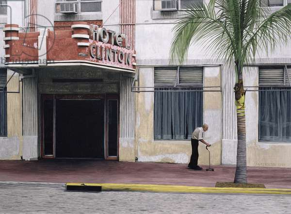 Hotel Clinton, 1998 (oil on paper)