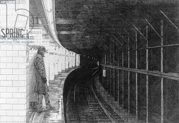 Subterraneans X (Spring Street) 1984 (etching on paper)