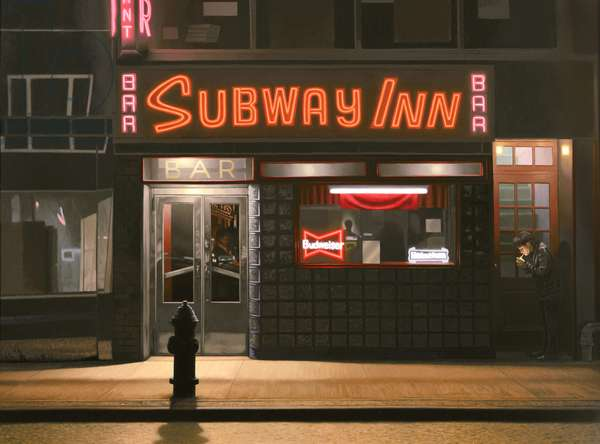 Subway Inn, 1989 (oil on panel)