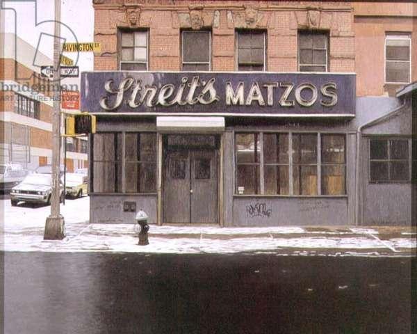 Streit's Matzos, 1993 (oil on panel)