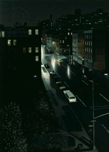 Harlem Nocturne, 1985 (oil on panel)