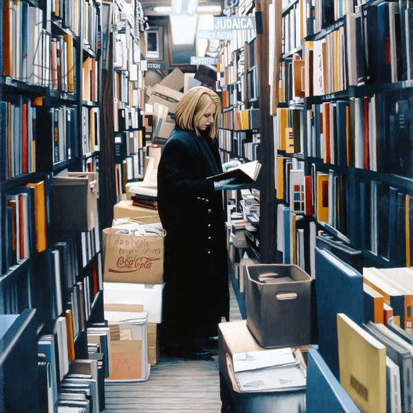 Woman in Bookseller, 2009 (oil on panel)