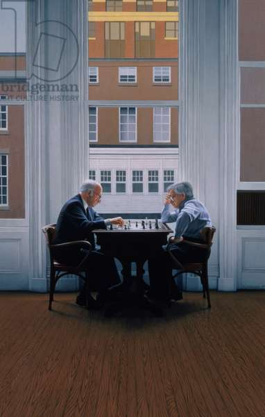 Chess Players, 1991 (oil on panel)