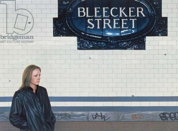 Bleecker Street, 1984 (oil on panel)