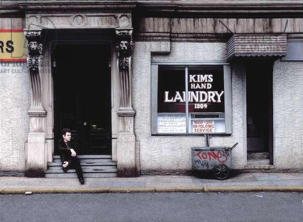 Laundry (self portrait) 1987 (oil on panel)