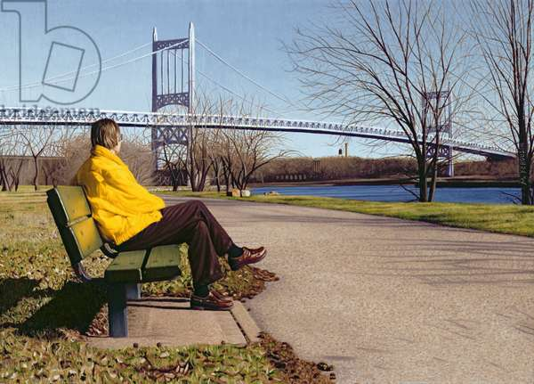 Man on Park Bench, 2002 (oil on panel)