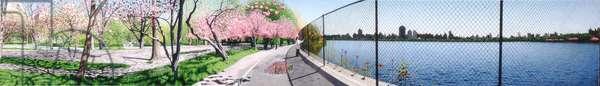 Reservoir in Spring, 1997 (oil on panel) (for detail see 103569)
